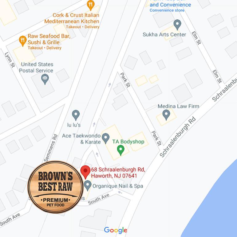 Brown's Best Raw Pet Food location, Harrington Park, NJ